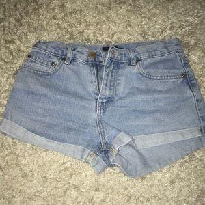 Cuffed Denim Forever 21 Shorts
